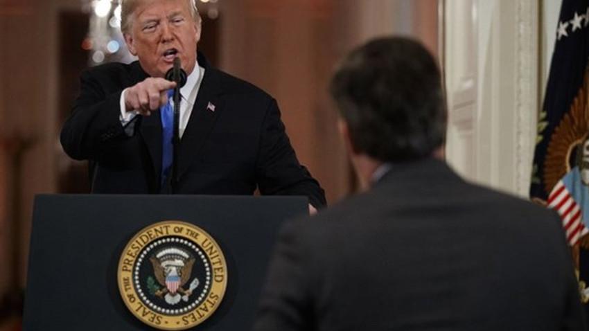 CNN muhabiri Trump'ı çıldırttı! Sen berbat birisin! O mikrofonu yere bırak!