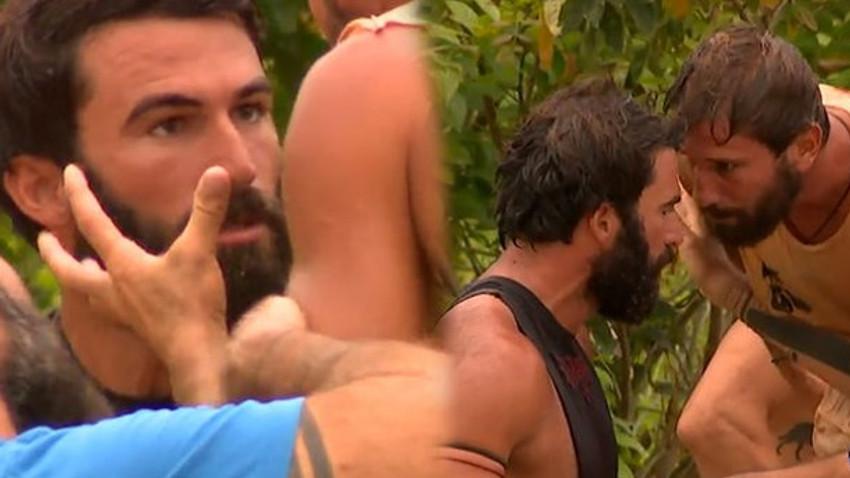 Survivor'da Adem ve Turabi çıldırdı! 'Senin gibi adamları parçalarım! Kolpa dövüşçü!'