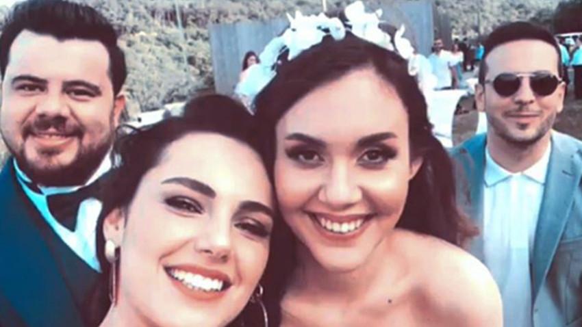 Berfu Yıldız ile Eser Yenenler'in düğününe ünlü aktı