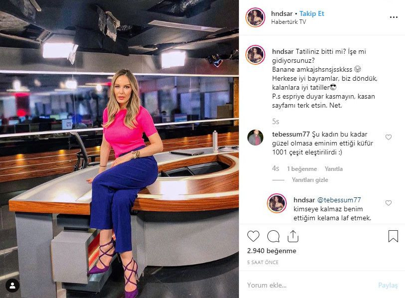 Habertürk spikeri Hande Sarıoğlu'ndan küfür skandalı! - Sayfa 1