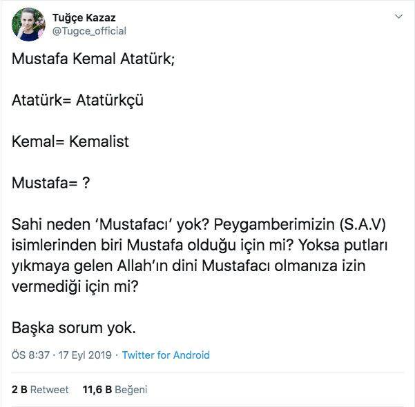 Tuğçe Kazaz'ın Atatürk sorusu olay yarattı - Sayfa 2