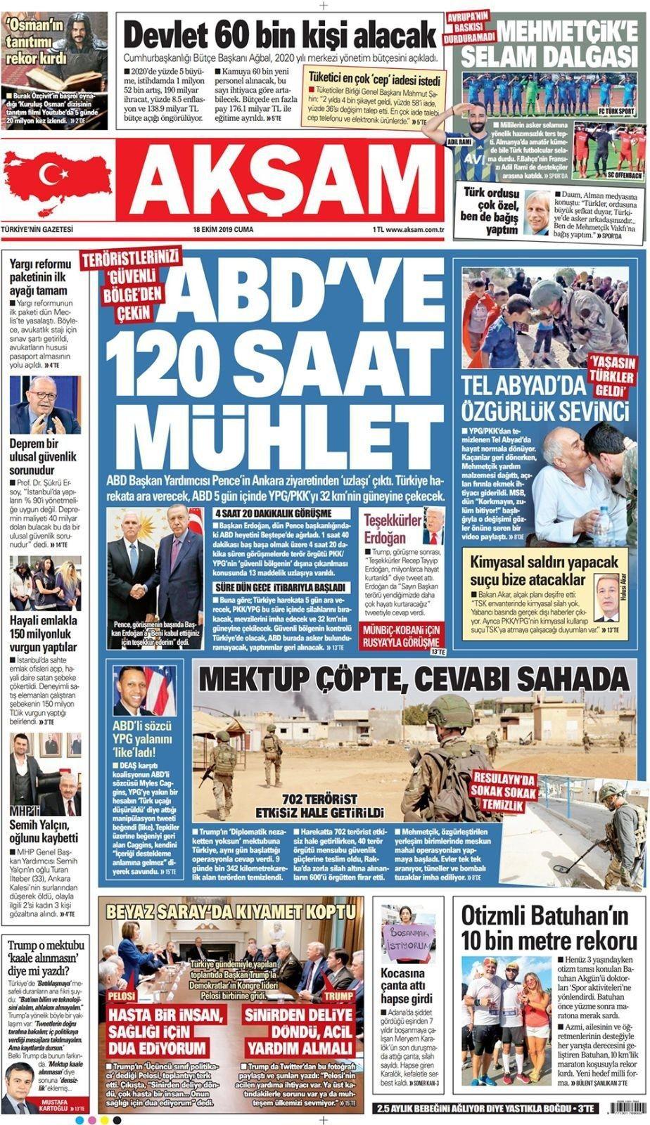 Türkiye-ABD anlaşmasını Türk basını böyle gördü! - Sayfa 1