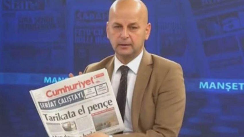 Akit TV sunucusu Cumhuriyet'i hedef gösterdi: El bombası atalım