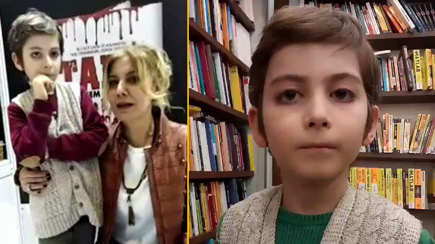 Sosyal medya 10 yaşındaki Atakan'ı konuşuyor! Kendine hayran bıraktı!