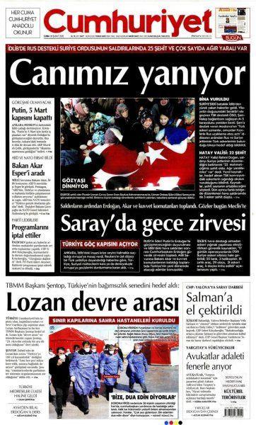 Gazeteler İdlib'deki şehitlerin haberlerini nasıl gördü? - Sayfa 1