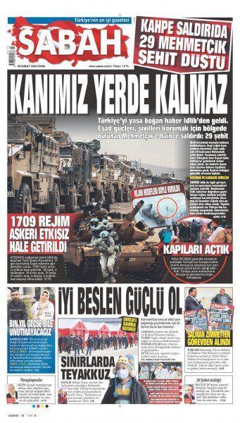 Gazeteler İdlib'deki şehitlerin haberlerini nasıl gördü? - Sayfa 3