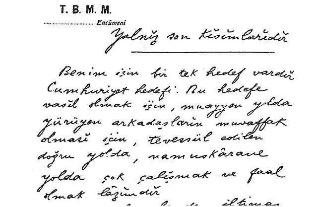 Kendi el yazısıyla Atatürk'ün görülmemiş not defteri - Sayfa 2