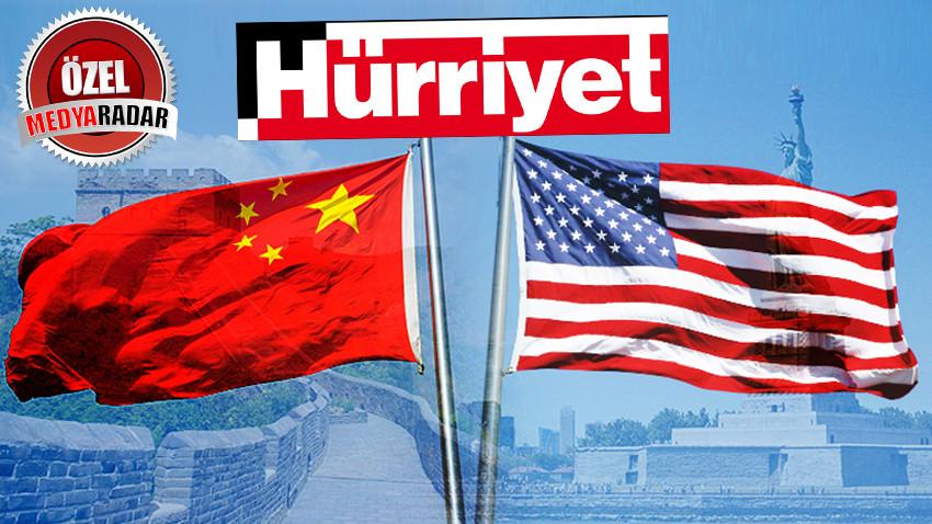 ABD-Çin gerilimi Hürriyet'i ihya etti! Tam sayfa haber ilan