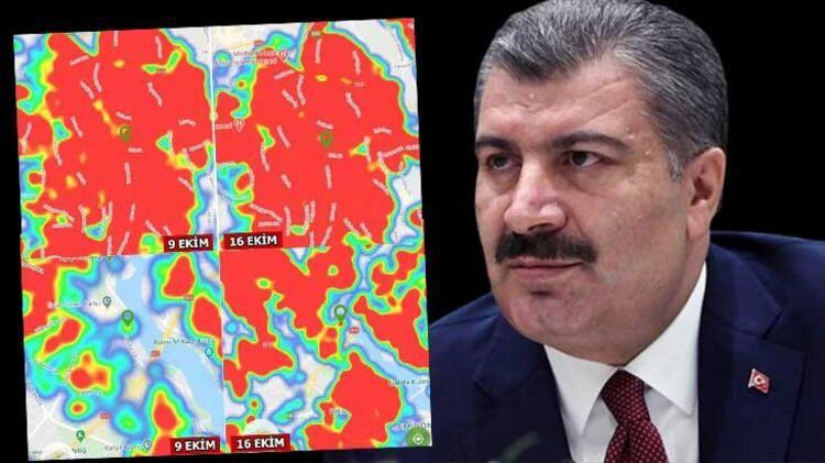 İşte İstanbul'da ilçe ilçe koronavirüs haritası! Son 7 günde değişti... - Sayfa 1