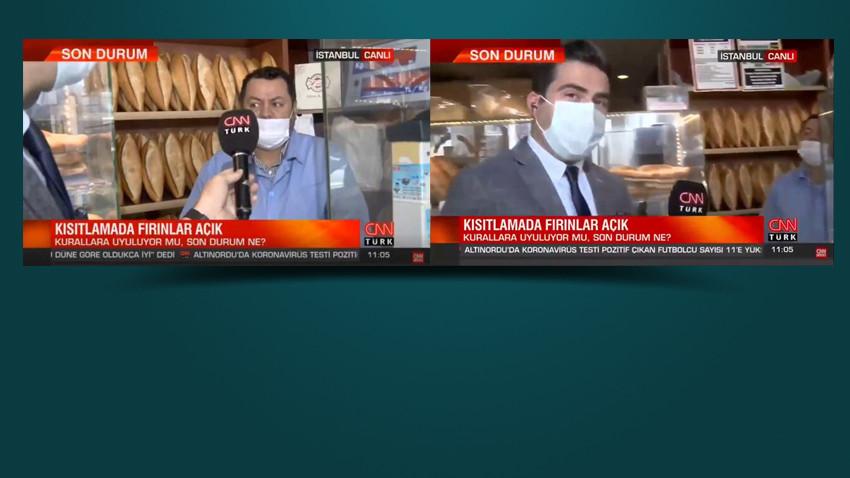 Fırıncı artan fiyatları eleştirdi! CNN Türk muhabiri yayını kesti!