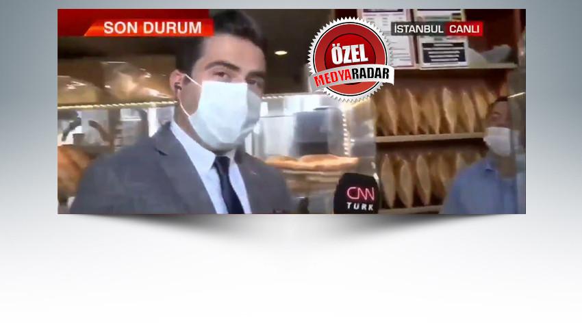 CNN Türk muhabirinden 'fırıncı' açıklaması!