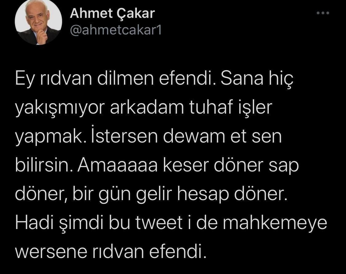 Ahmet Çakar'dan Rıdvan Dilmen'e sert sözler: Erdoğan'dan güç devşirme - Sayfa 3
