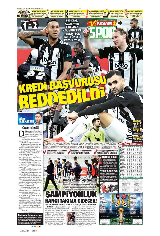 Nefes kesen şampiyonluk yarışı spor manşetlerine nasıl yansıdı? - Sayfa 1