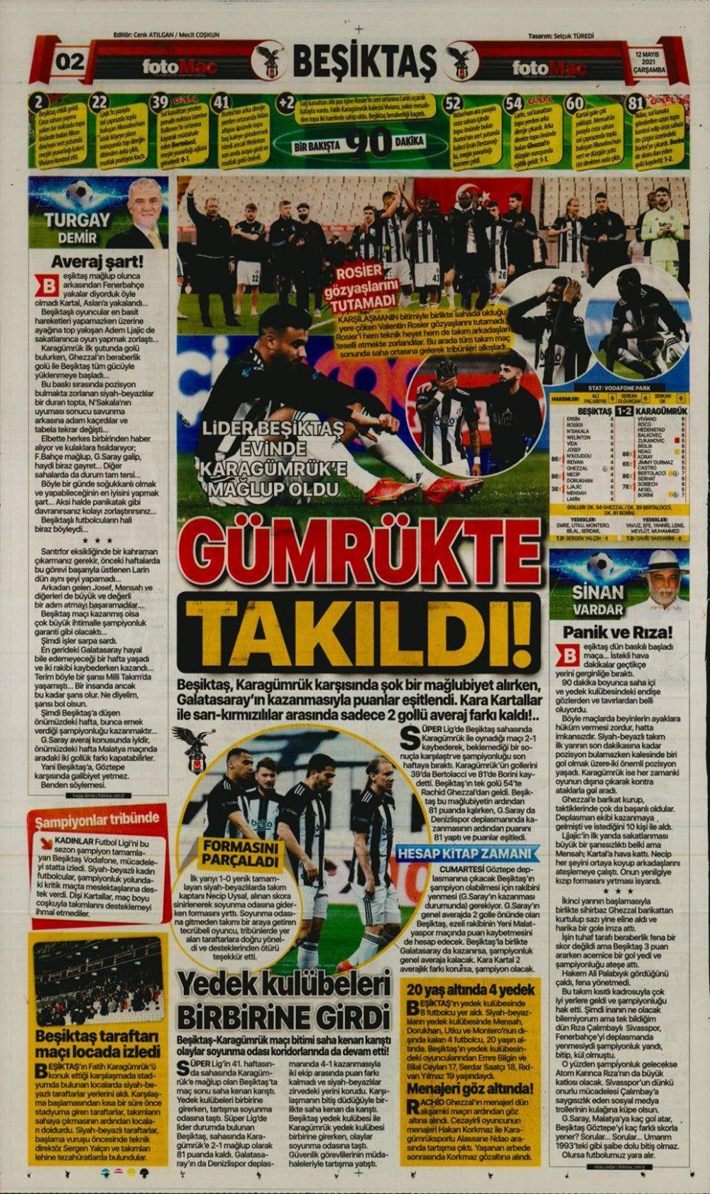 Nefes kesen şampiyonluk yarışı spor manşetlerine nasıl yansıdı? - Sayfa 4