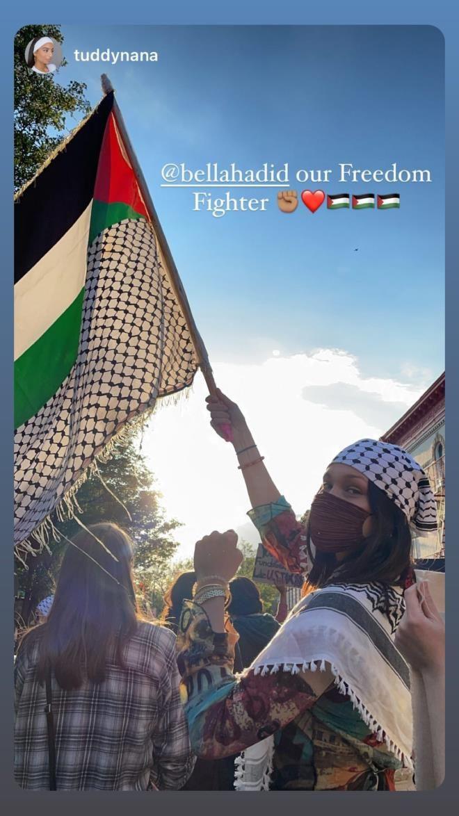 Bella Hadid, İsrail zulmüne dayanamayıp kendini sokağa attı! Amerika sokaklarında Filistin naraları - Sayfa 1