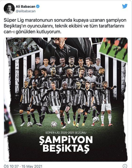 Siyasilerden ve ünlü isimlerden şampiyon Beşiktaş'a tebrik - Sayfa 4