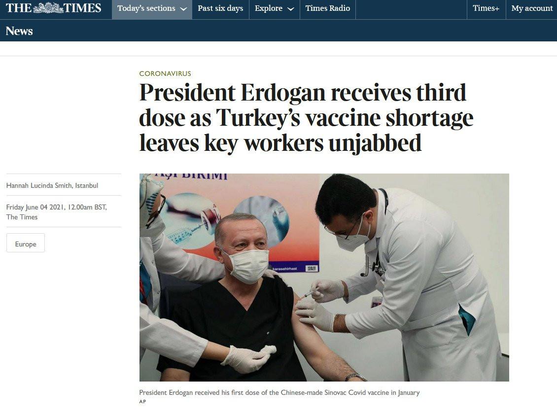 Cumhurbaşkanı Erdoğan'ın üçüncü doz aşısı gündem oldu! 'İtiraf eden ilk lider'