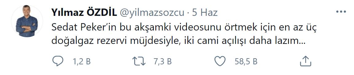 Yılmaz Özdil'den Sedat Peker'in iddialarına ilişkin çarpıcı yorum! 'Örtmek için…'