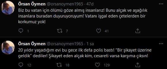 Örsan Öymen'in evine gece yarısı polis baskını! Sosyal medyadan tepki gösterdi…