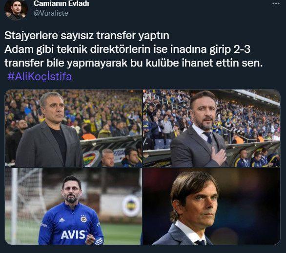 Fenerbahçe taraftarı Twitter gündeminde: Ali Koç istifa! - Sayfa 1