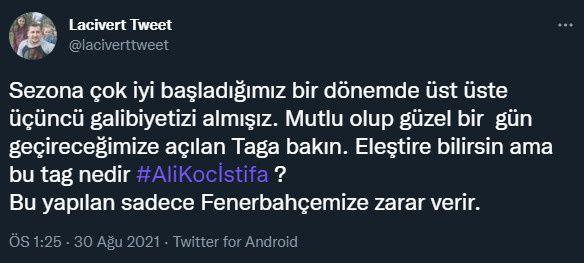 Fenerbahçe taraftarı Twitter gündeminde: Ali Koç istifa! - Sayfa 4