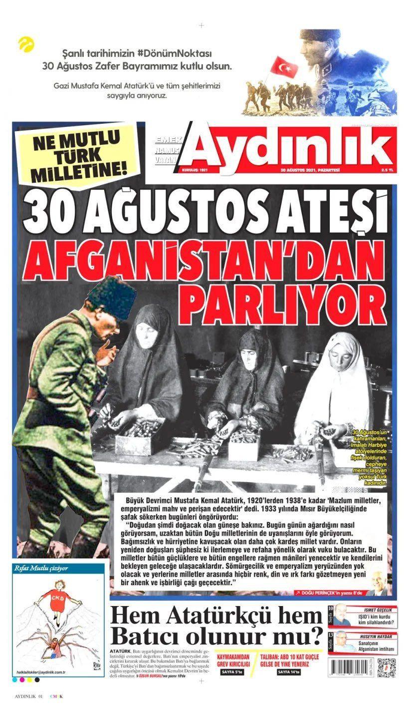 Aydınlık Gazetesi'nden çok tartışılacak manşet! 30 Ağustos'la Afganistan'ı bir tuttular! - Sayfa 4