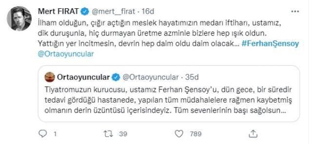Ferhan Şensoy'un ölümü tüm Türkiye'yi yasa boğdu! Ünlü isimlerden art arda taziye mesajı geldi - Sayfa 4