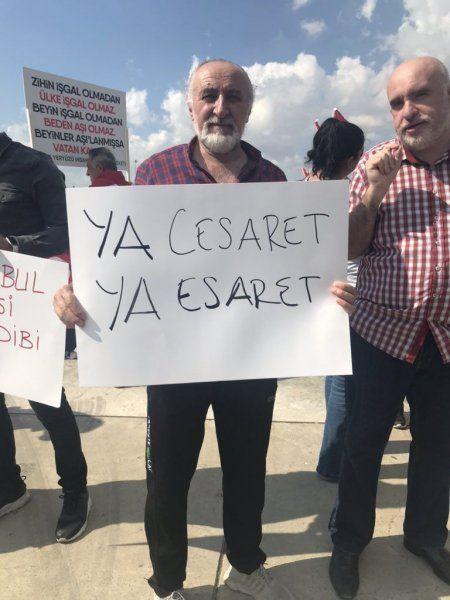 Aşı karşıtları Maltepe'de toplandı! İşte mitingin ilk görüntüleri... - Sayfa 3