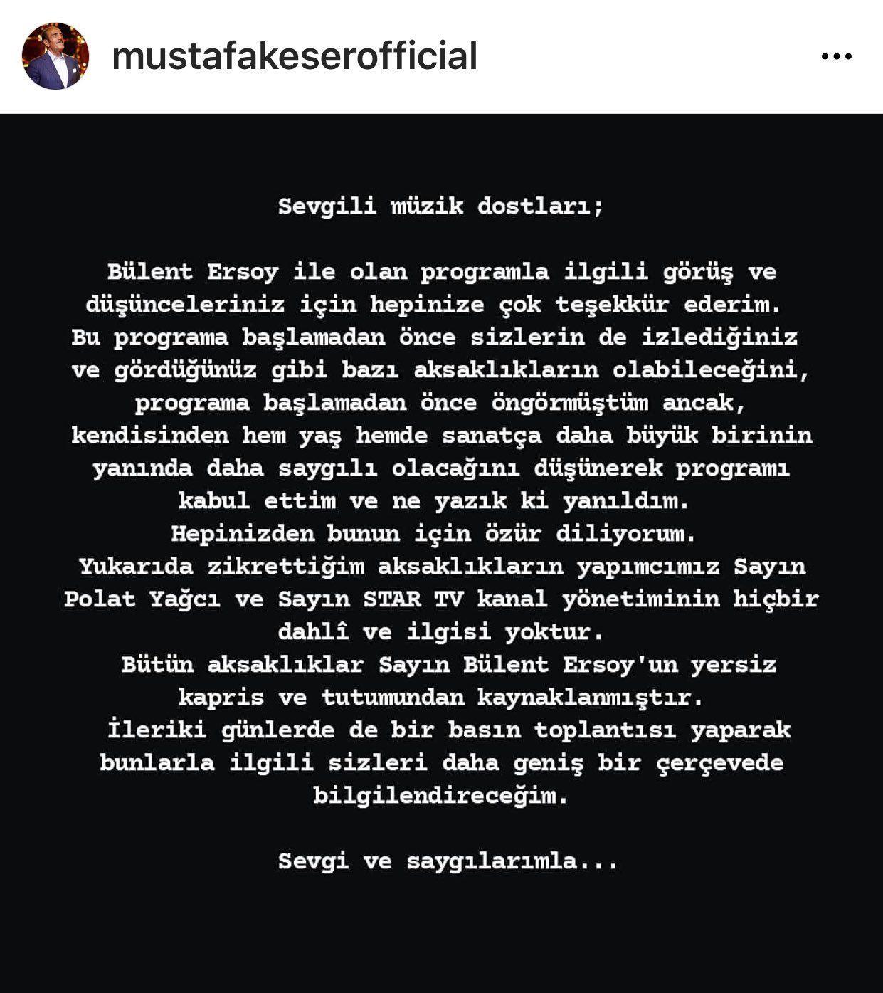 Bülent Ersoy ve Mustafa Keser'in yeni programı 'Benzemez Kimse Bize' hakkında flaş karar! - Sayfa 13