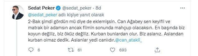 Sedat Peker'den Can Ataklı paylaşımı! 'Filmin sonunda mahcup olacaksın' - Sayfa 6