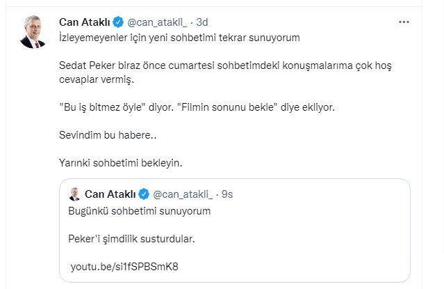 Sedat Peker'den Can Ataklı paylaşımı! 'Filmin sonunda mahcup olacaksın' - Sayfa 9