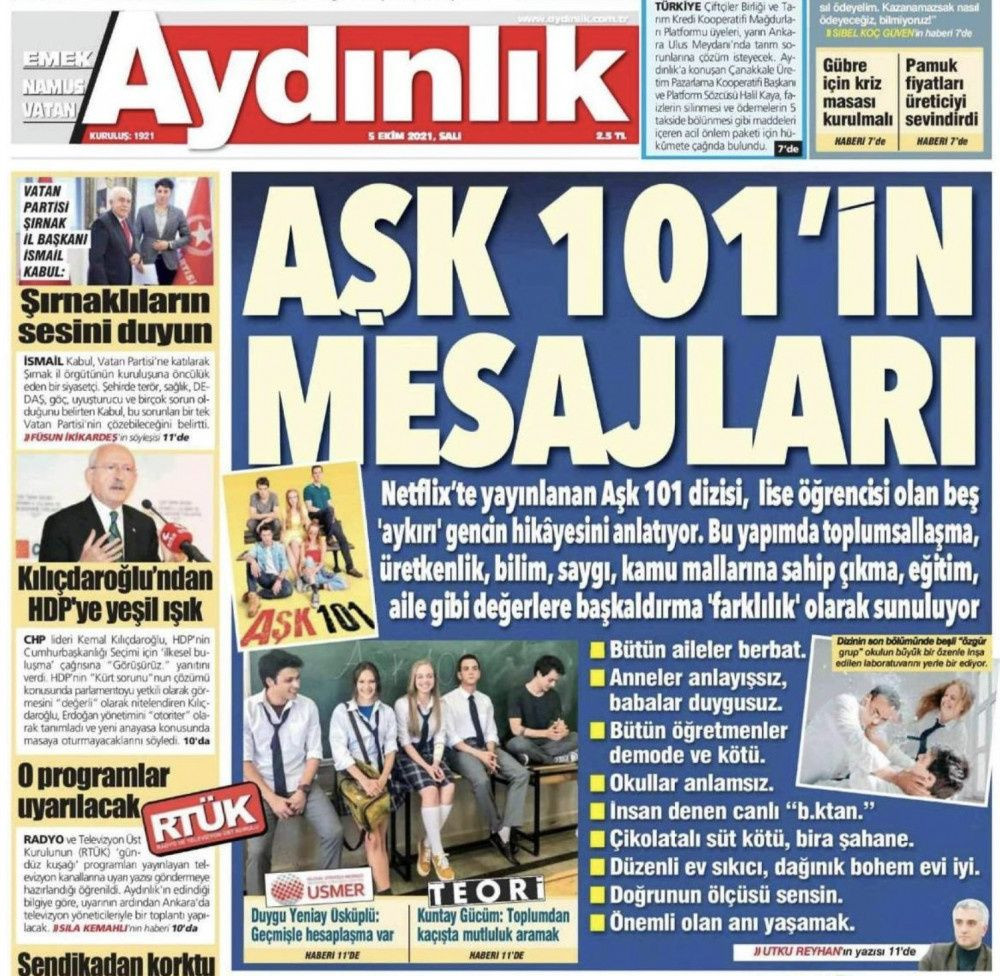 Aydınlık Gazetesi 'Aşk 101'i hedef aldı! 'Dizinin mesajları'nı böyle paylaştı! - Sayfa 2
