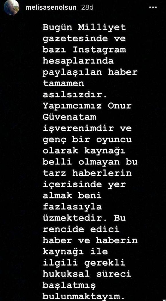 """Melisa Şenolsun'dan 'Atiye'den aşk çıktı' haberine sert tepki! """"Bu rencide edici..."""" - Sayfa 3"""